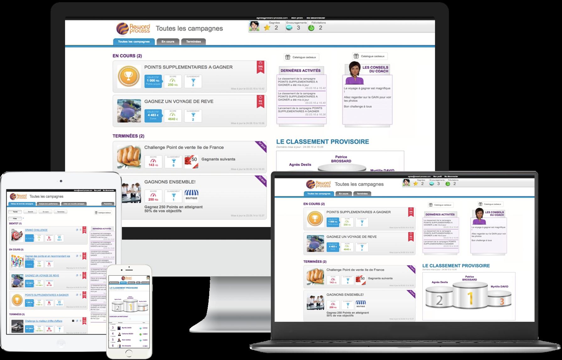 Solution gestion des challenges clé en main SAAS sans installation et intégrée outils CRM