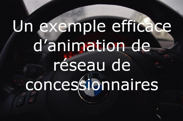 Un exemple efficace d'animation de réseau commercial