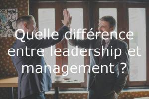 Différence entre leader et manager