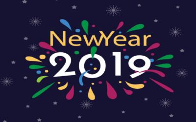 Nous vous adressons nos meilleurs vœux pour 2019 !